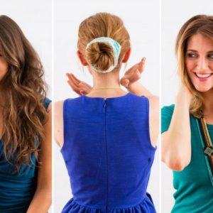 Быстрые прически — 110 фото красивых причесок для длинных и средних волос на каждый день