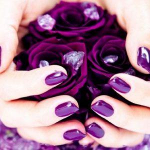 Фиолетовый маникюр — особенности выбора оттенка и советы по применению цвета (90 фото и видео)