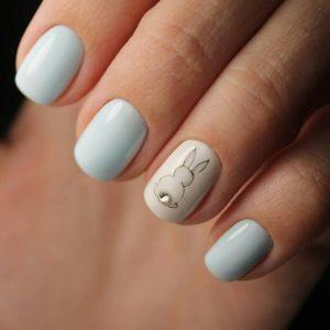 Голубой маникюр — лучшие сочетания, стили и оригинальные идеи украшения ногтей (115 фото)