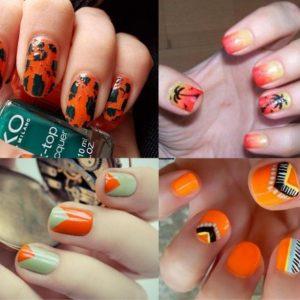 Оранжевый маникюр — модные новинки сезона, лучшие оттенки и украшения для ногтей в сезоне 2019 года (105 фото)