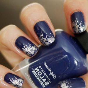 Синий маникюр — стильные сочетания и оригинальные варианты украшения ногтей (110 фото)