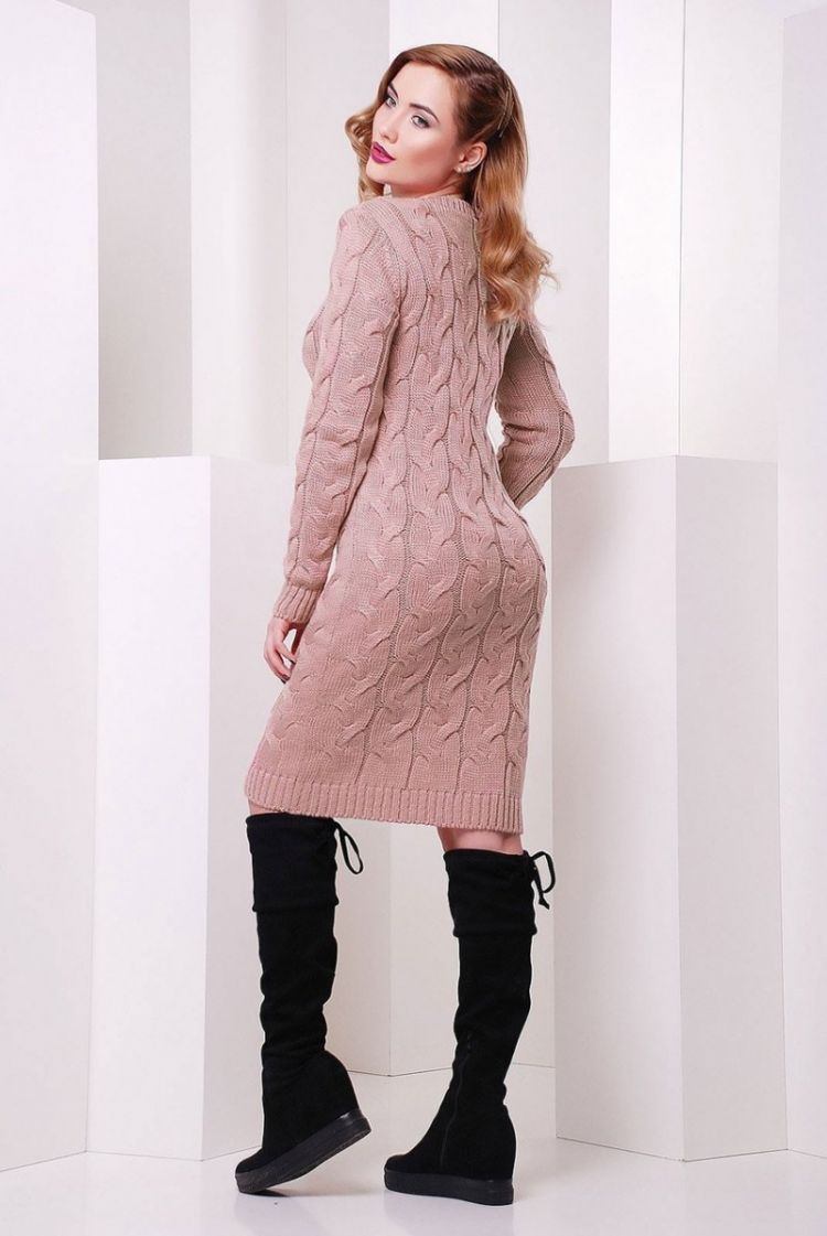 вязаные платья 100 фото лучших моделей и советы как носить вязаные