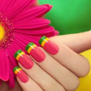 Яркий маникюр — оригинальные стили и особенности формирования яркого оформления ногтей (75 фото)